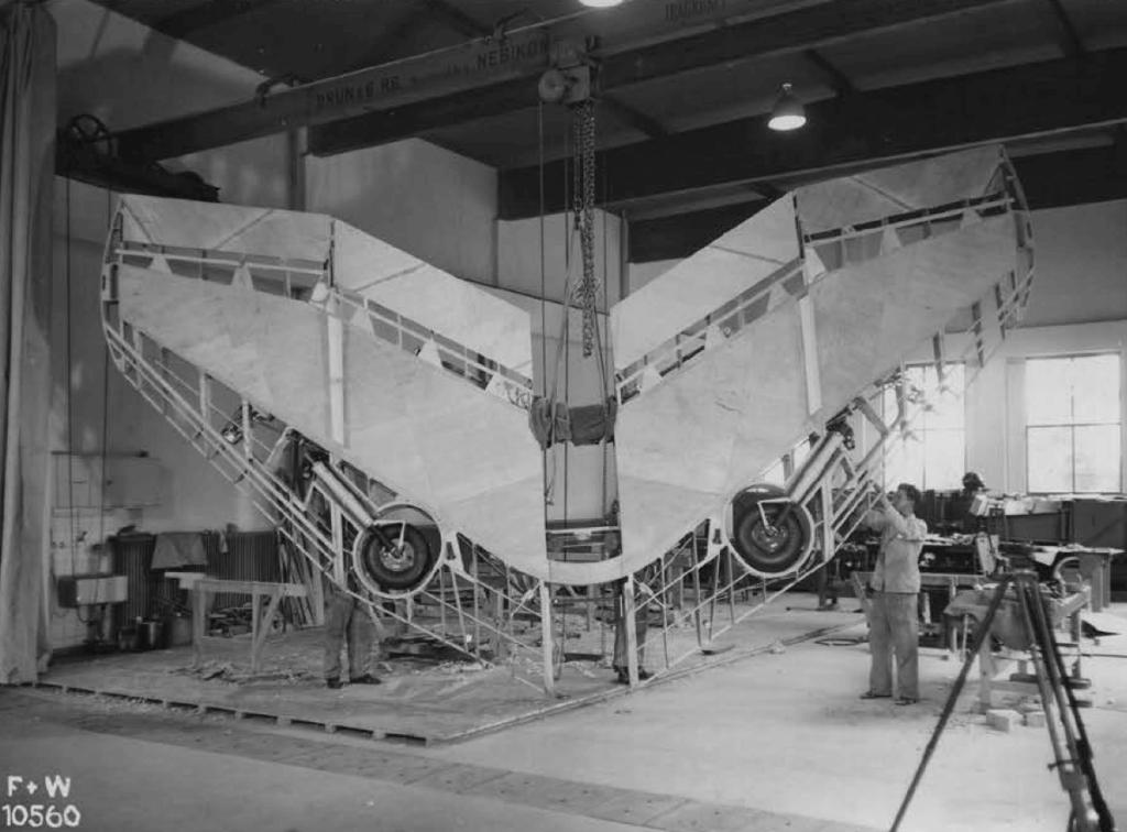 Projekt Arbalete N-20.1 Flügelbau